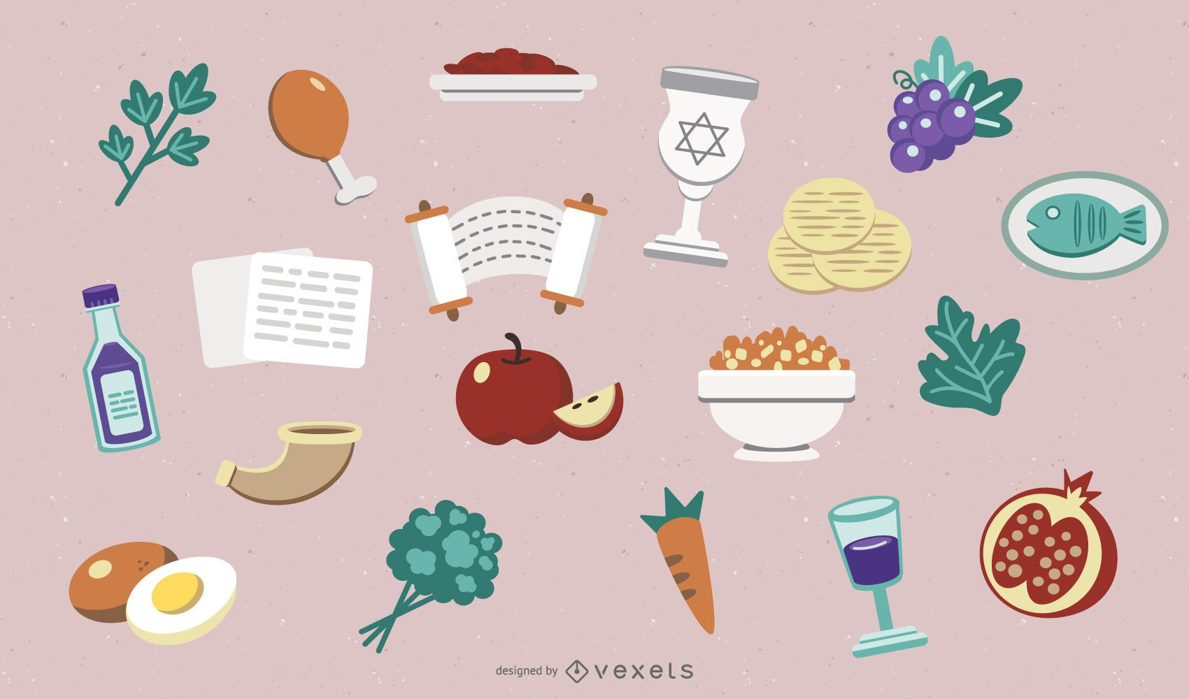 Passover Elements Illustration Pack