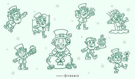 Conjunto de caracteres de traçado de St Patrick