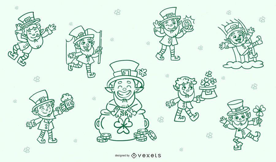 Conjunto de caracteres de trazo de San Patricio