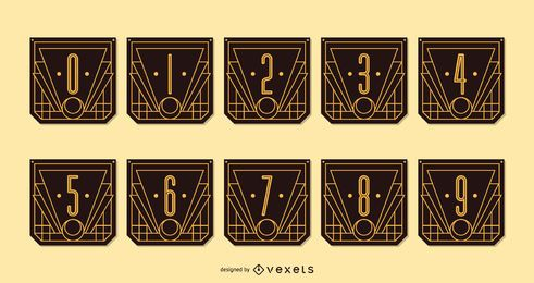 Alphabet Art Deco Number Banner Pack