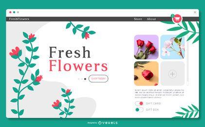Plantilla de página de aterrizaje floral