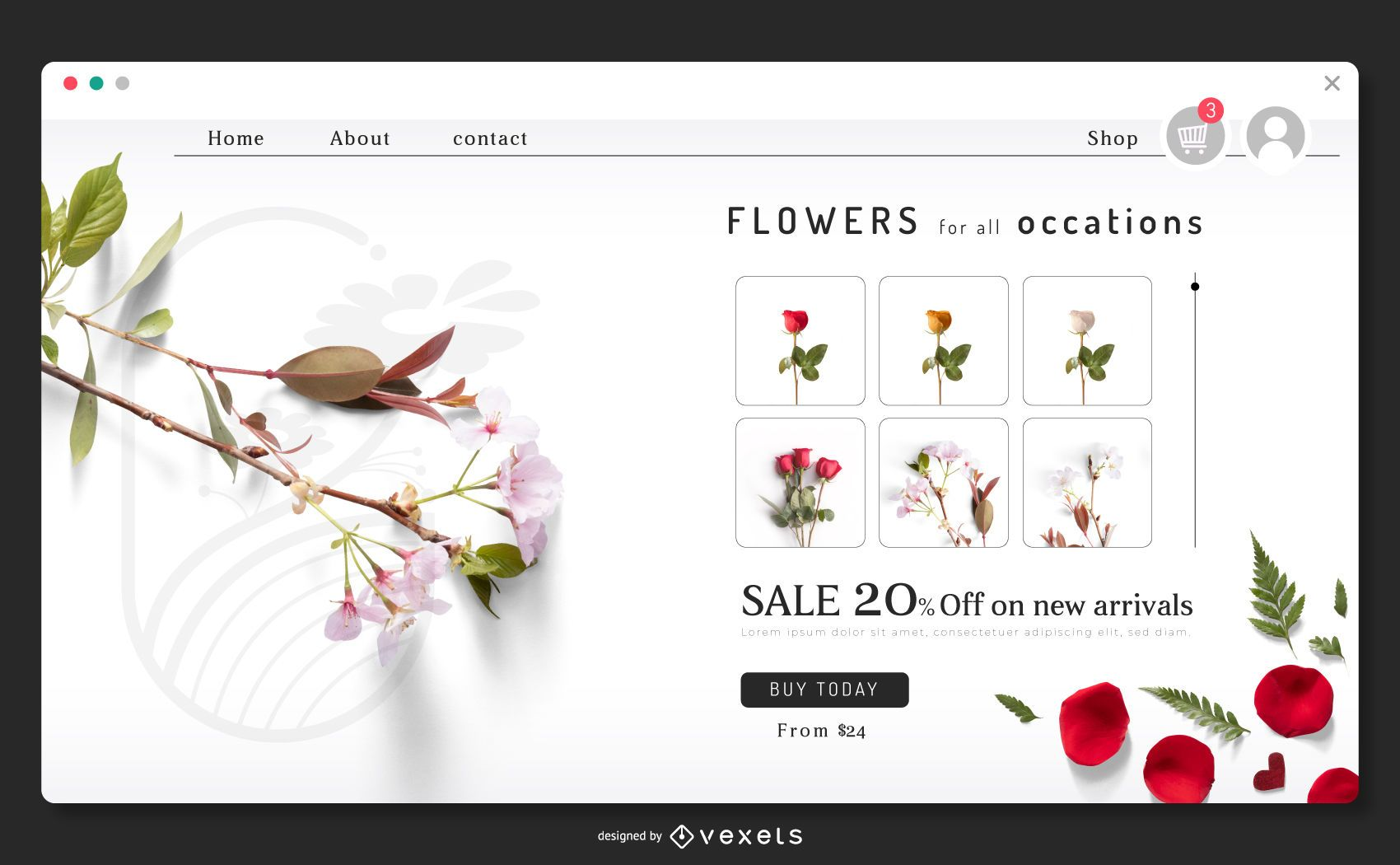Flowers landing page template