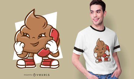 Diseño de camiseta Phone Poop