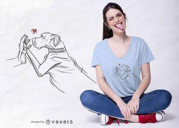 Deutsche Dogge Liebe T-Shirt Design