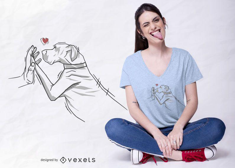Design do t-shirt do amor de great dane