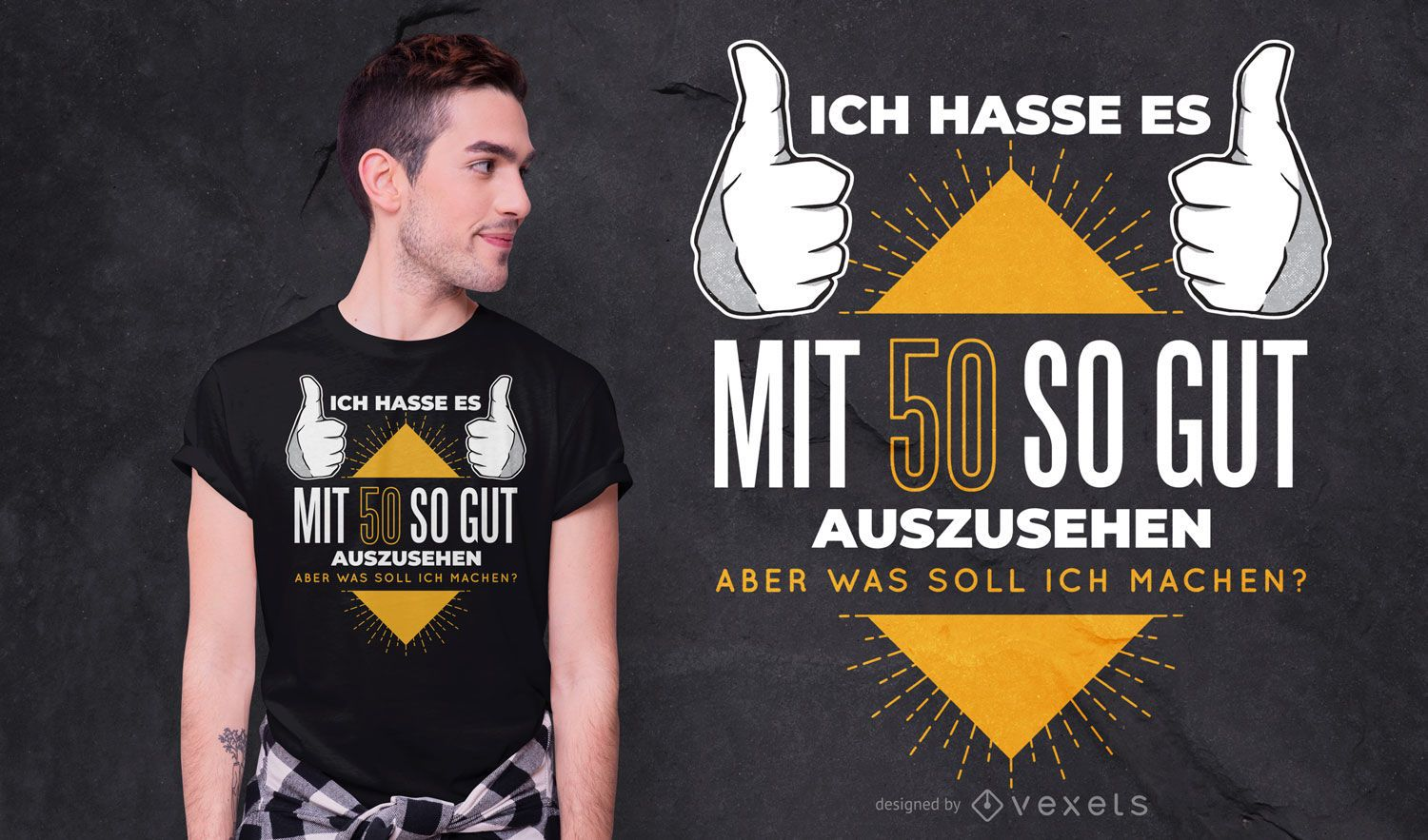 50 Years-old German Quote T-shirt Design