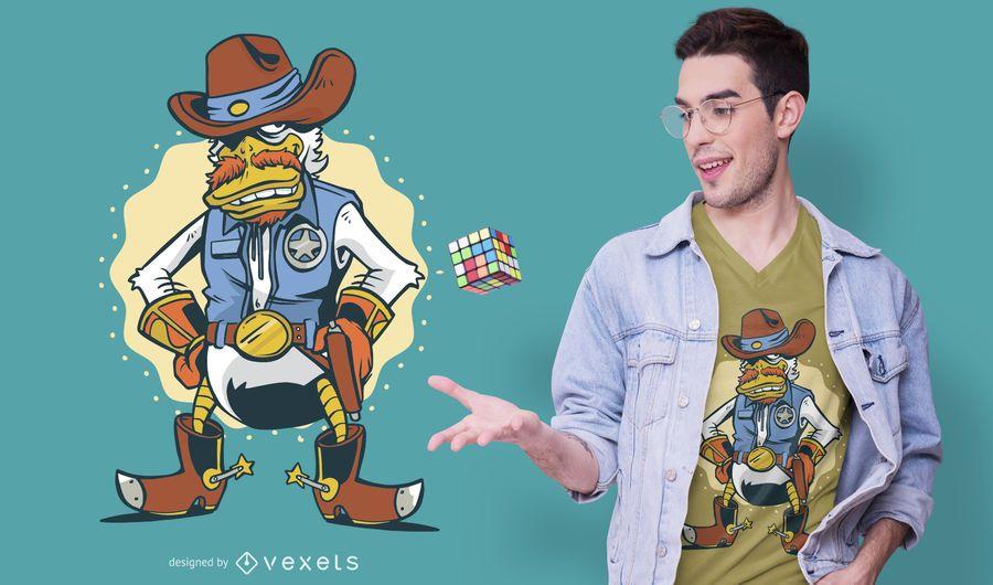 Diseño de camiseta Duck Texas Ranger