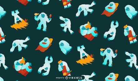 Diseño de fondo de patrón de Yeti