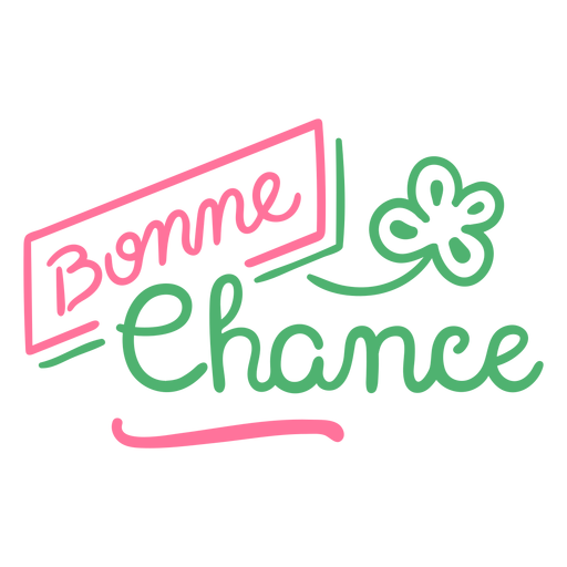 Bonne chance good luck french Transparent PNG