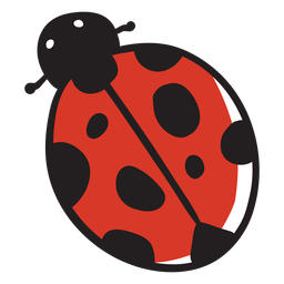 Cartoon ladybug top view