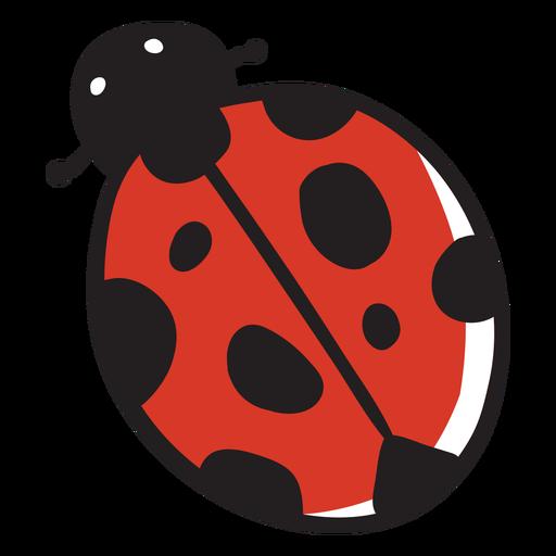 Cartoon ladybug top view