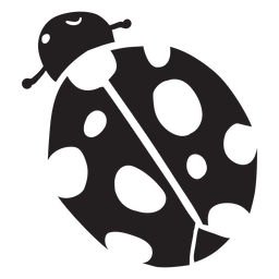 Cartoon ladybug top view silhouette