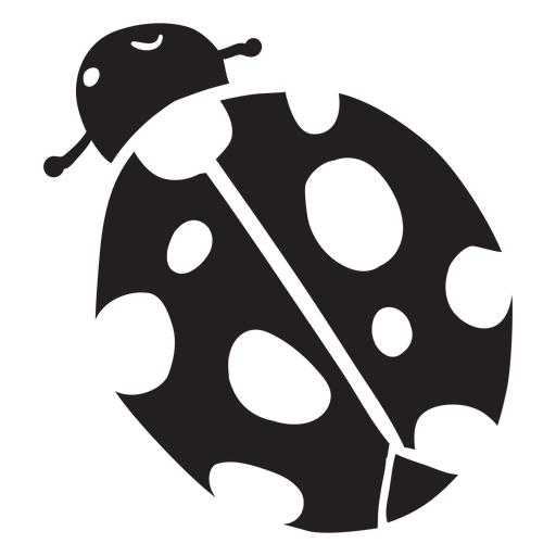 Cartoon ladybug top view silhouette Transparent PNG
