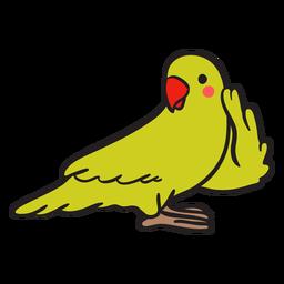Papagaio verde bonito ouvir