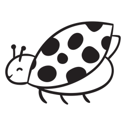 Contorno voador joaninha bonito