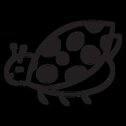 Lindo contorno volador de mariquita