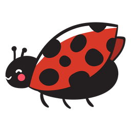 Cute ladybug flying profile