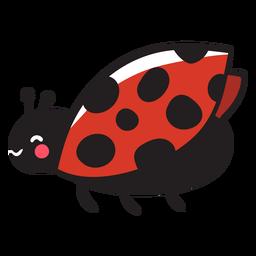 Cute ladybug flying profile