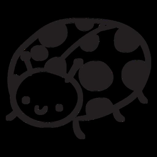 Cute ladybug outline