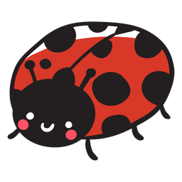 Cute ladybug three quarter