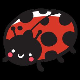 Cute ladybug three quarter
