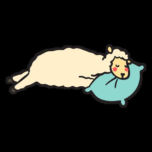 Cute llama sleeping