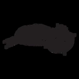 Cute llama sleeping silhouette