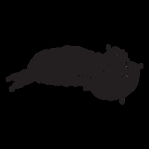 Linda llama silueta para dormir