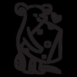 Lindo mouse amor esquema de queso