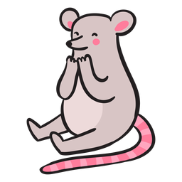 Cute mouse sitting