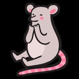 Süße Maus sitzt
