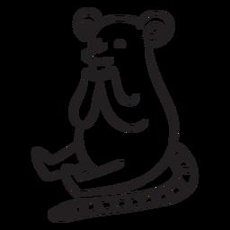 Esquema lindo del ratón sentado