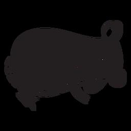 Lindo ratón durmiendo silueta
