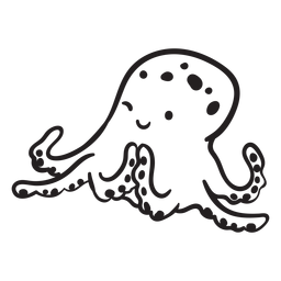 Cute octopus scheming outline