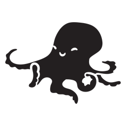 Cute octopus silhouette