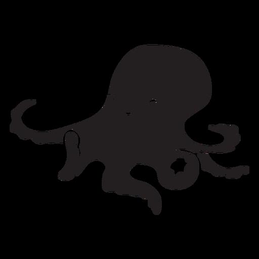 Cute octopus silhouette Transparent PNG