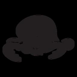 Silhueta de dormir bonito polvo