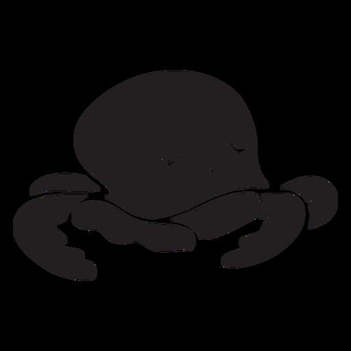 Silueta de dormir lindo pulpo Transparent PNG