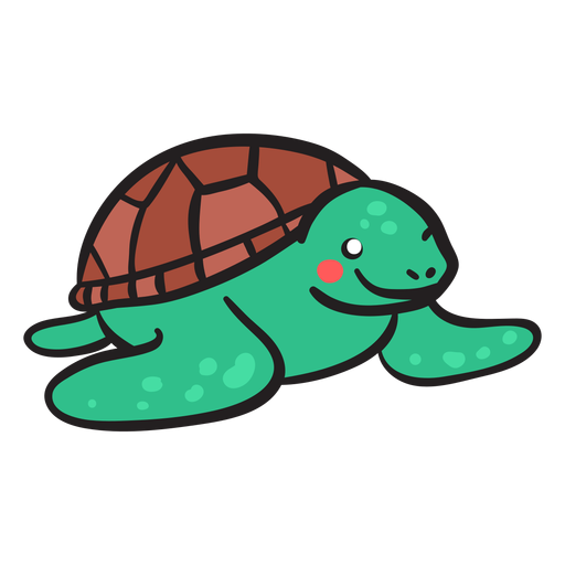Green sea turtle smiling front view Transparent PNG