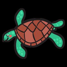 Tartaruga verde natação