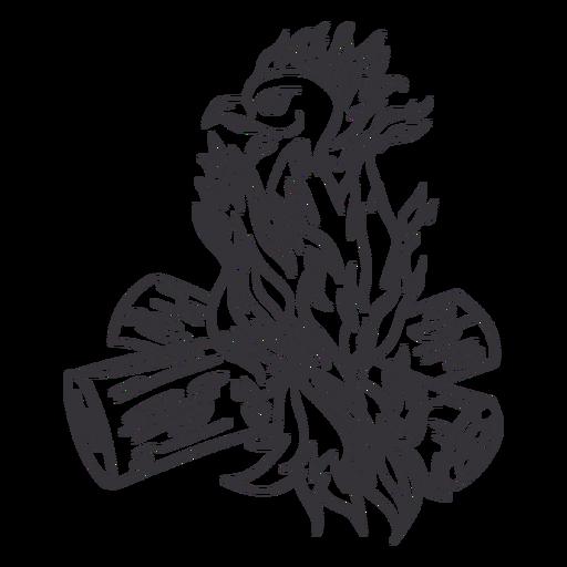 Esquema de registros de perchas de Phoenix Transparent PNG