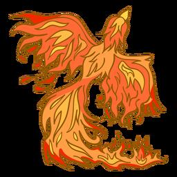 Fénix saliendo del fuego