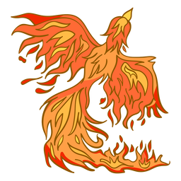 Phoenix rising from fire