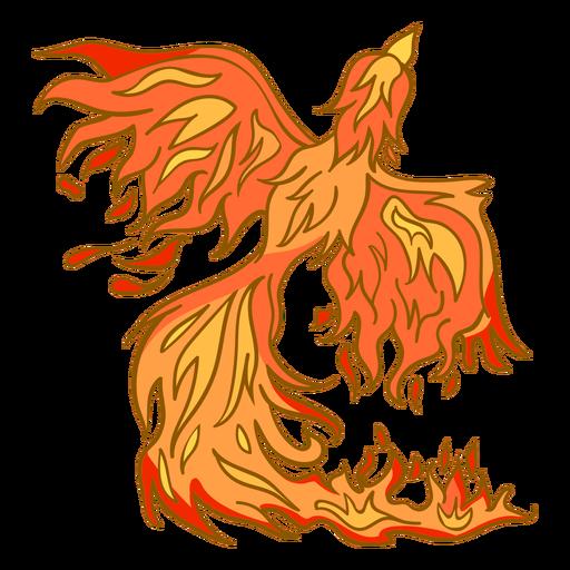 Fénix saliendo del fuego Transparent PNG
