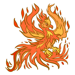 Phoenix espalhando asas