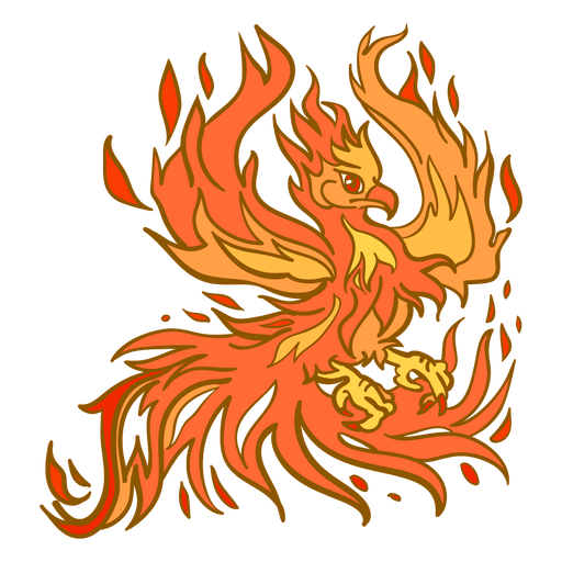 Phoenix spreading wings Transparent PNG