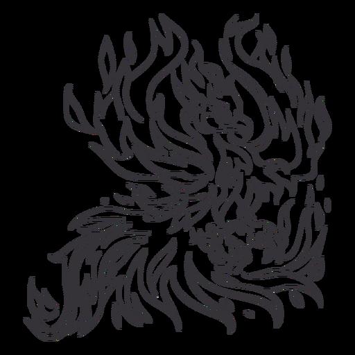 Phoenix extendiendo el contorno de las alas Transparent PNG