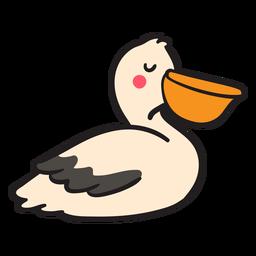Olhos de pelicano em repouso fechados