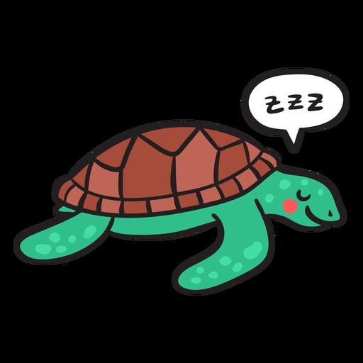 Sleeping green sea turtle