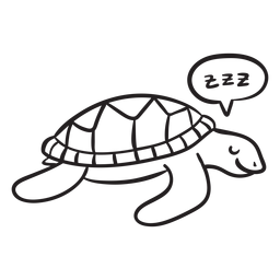 Contorno de tartaruga marinha dormindo